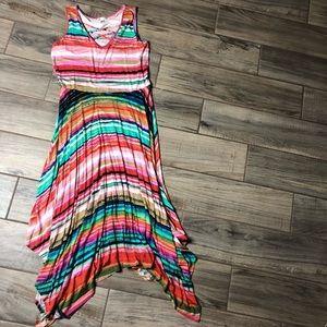 Multicolored Asymmetrical Dress
